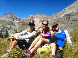 Mountain chicks relaxing in the sun & wildflowers - Telluride, Colorado